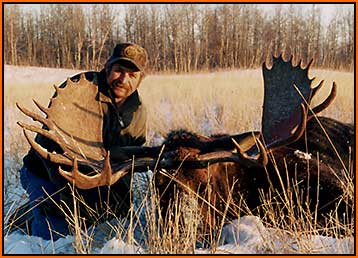 Stan Reiser with Trophy 53`Moose
