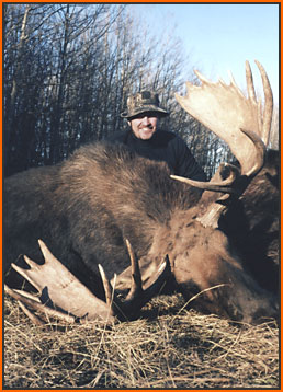 "Eric Liebert with 51"" Canadian Moose"